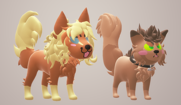 Paint 3D - Lazy models - Hannah, Shaun by Choco-Floof
