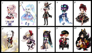 Free wta Adoptables masked batch  {CLOSED} by faeryhond