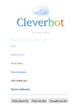 Conversation with CleverBOT by A-R-T-3-M-I-S