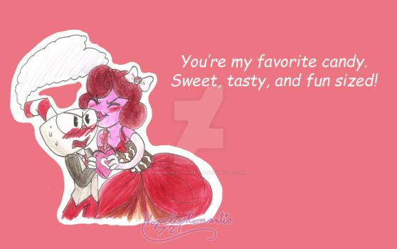 Happy Valentines Day Cuphead by hopelessromantic721