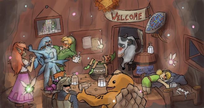 Link's Treehouse Party! by Jo-Onis