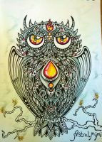 Element-owls series. Fire by AstralMimi