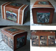 Horses decoupage box by serenainwonderland