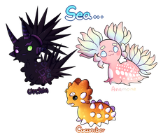 Sea life pacapillars AUCTION 3/3/ CLOSED by Lighterium