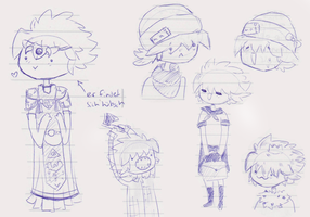 Random sketches of a guy named Touken by SnowflakeBear
