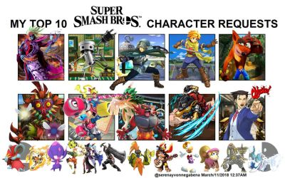 (READ BEFORE) TOP 10 SSBU CHARACTERS I WANT by Reshiramaster