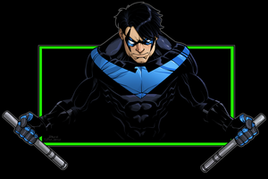 Nightwing by dwaynebiddixart