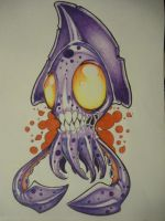 zombie squid by The-Ozzman