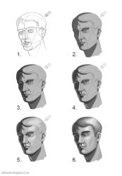 Shading a head in six steps by JeffSearle