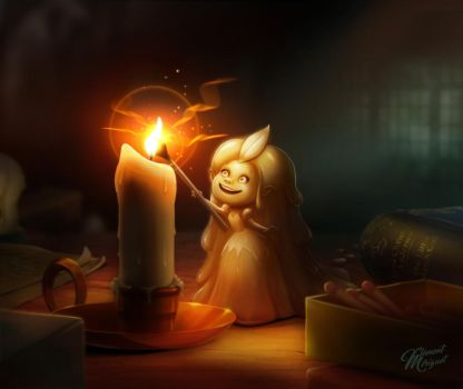 Little Candle Fairy by clementmeriguet
