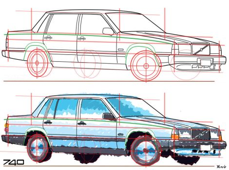 volvo 740 construction and color by Tombstone138