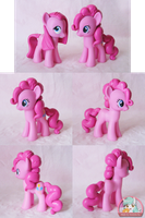 Pinkie Pie Customs with Sculpted Hair by Amandkyo-Su