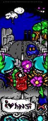 Birds and worms ANSI by binarywalker