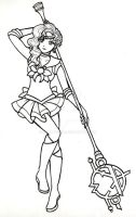 Sailor Ethildria -inks- by SarahsPlushNStuff