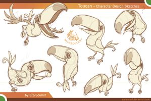 Toucan Sketches by StarSoulArt