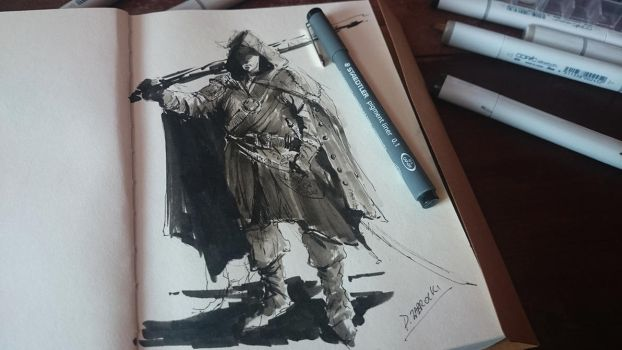 Hooded Inktober by daRoz
