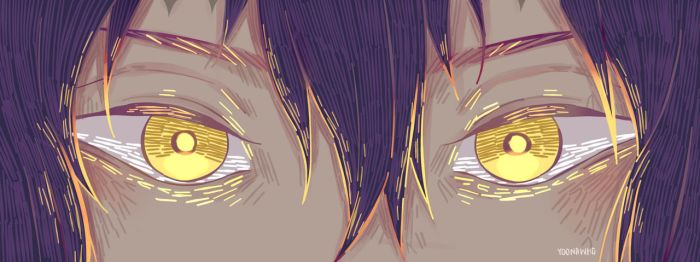His eyes are shining with gold by YoonaWho