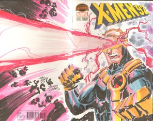 Cyclops by Ayers and Stone Sketch Cover by JamesLeeStone