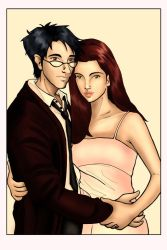 James and Lily Potter by saturn9calina
