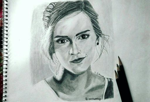 Emma Watson drawing by Mohd Shad Mirza by iamshadmirza