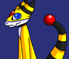a Ampharos From Pokemon My Version by KatieTheSnowGoat