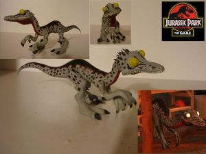 Jurassic Park Troodon Sculpture by BallBots
