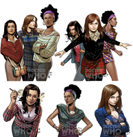 Doctor Who Companions Covers by elena-casagrande