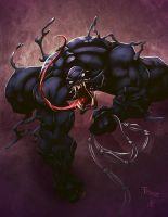 Venom Commish by JoshawaFrost