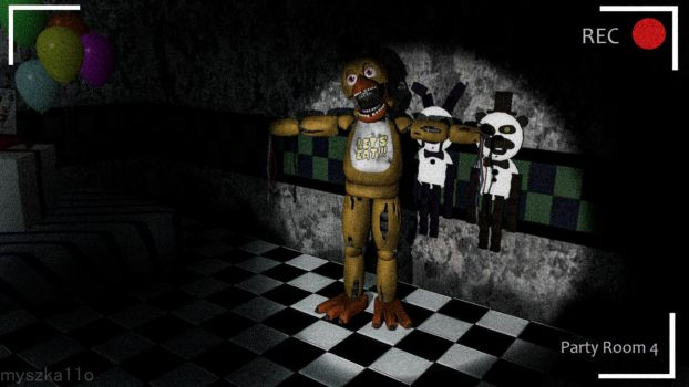 (GMod) Withered Chica In Party Room 4 by myszka11o