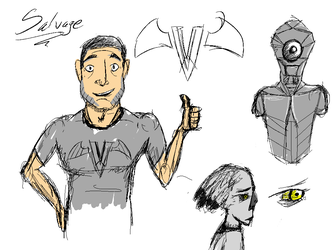 Salvage minor character sketches by supajackle