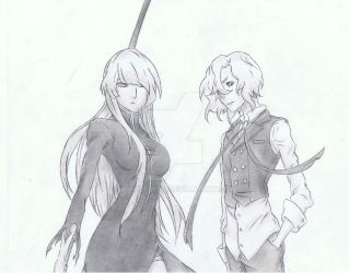 Rael Kertia and Seira J. Loyard by Anime019se