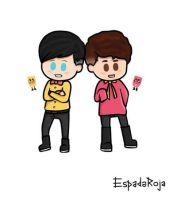 Snipperclip Dan and Snipperclip Phil by espadaroja