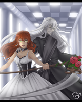 .: Undertaker and Anny :. commission by CaptainPinsel