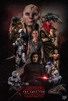 Star Wars The Last Jedi Poster  by Spider-maguire