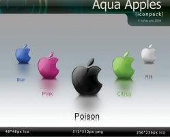 aqua apples dock icons by nahas-pro