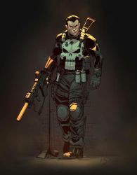 Punisher colored by Yinfaowei by Max-Dunbar