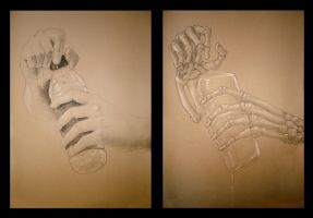 Schoolwork: Hand drawing by Echoic