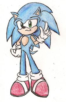 Sonic The Hedgehog Color Pencil Practice by NeonNeoz