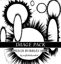 speech bubbles 2 image pack by asifalittlezonked