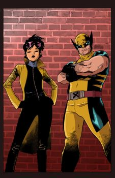 logan and jubilee (Colors) by tdjulian