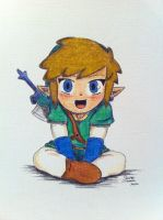 Link Chibi (Skyward Sword) by Alibax-Sombre