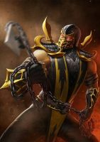 mortal combat 2011 rebut scorpion  by jersonayala27