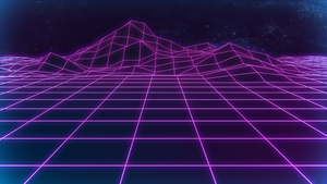 Retrowave Background by Hayny