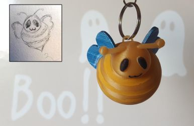 Cute bee keychain - 3D printed by Sen-Hime