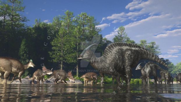 Lower to Middle Dinosaur Park Formation by PaleoGuy