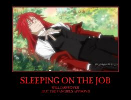 Grell is Sleeeping Poster by DragonStalker0713
