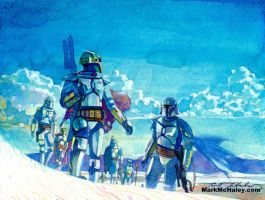 Death Watch across the White Sands by markmchaley