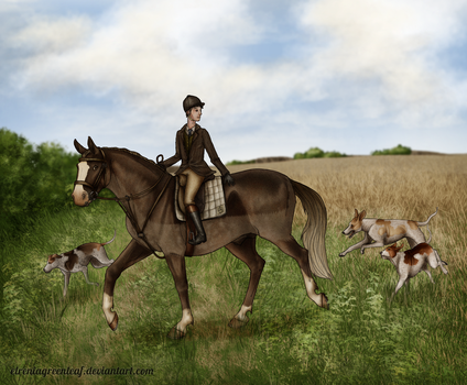 The Harpley Hunt - St George's Day Meet - Giovanni by ElreniaGreenleaf
