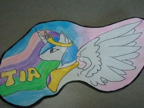 Celestia Badge by Paws-Prints
