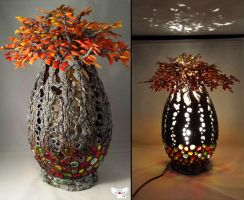 The Mother Tree, Gourd Lamp by ART-fromthe-HEART